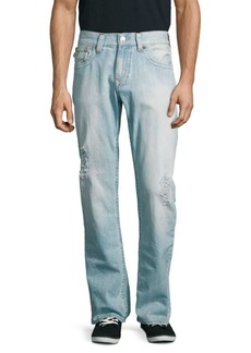 True Religion Distressed Straight-Leg Jeans