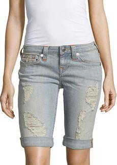 True Religion Distressed Denim Shorts