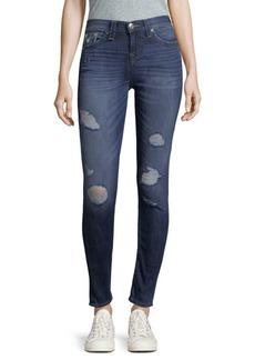 True Religion Distressed High-Waist Jeans