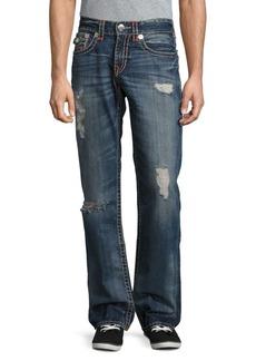 True Religion Distressed Straight Leg Jeans