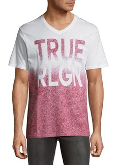 True Religion Double Ombre Cotton Tee