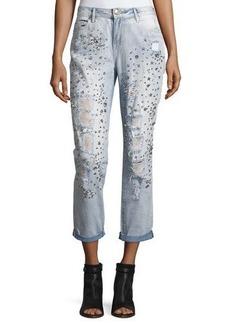True Religion Embellished Boyfriend Denim Jeans