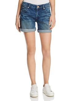 True Religion Emma Bermuda Denim Shorts in Cobalt Rush