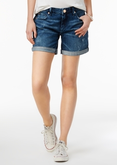 True Religion Emma Cobalt Rush Wash Denim Shorts