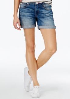 True Religion Emma Cuffed Denim Shorts