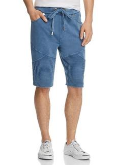 True Religion Faded Moto Sweat Shorts