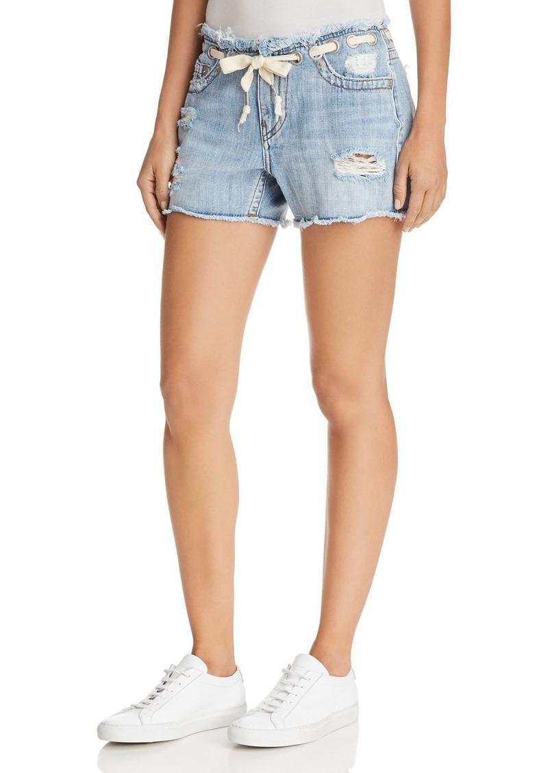 True Religion Fashion Denim Shorts in Baseline Destroy