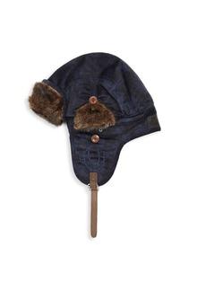 True Religion Faux Fur-Trimmed Aviator Hat