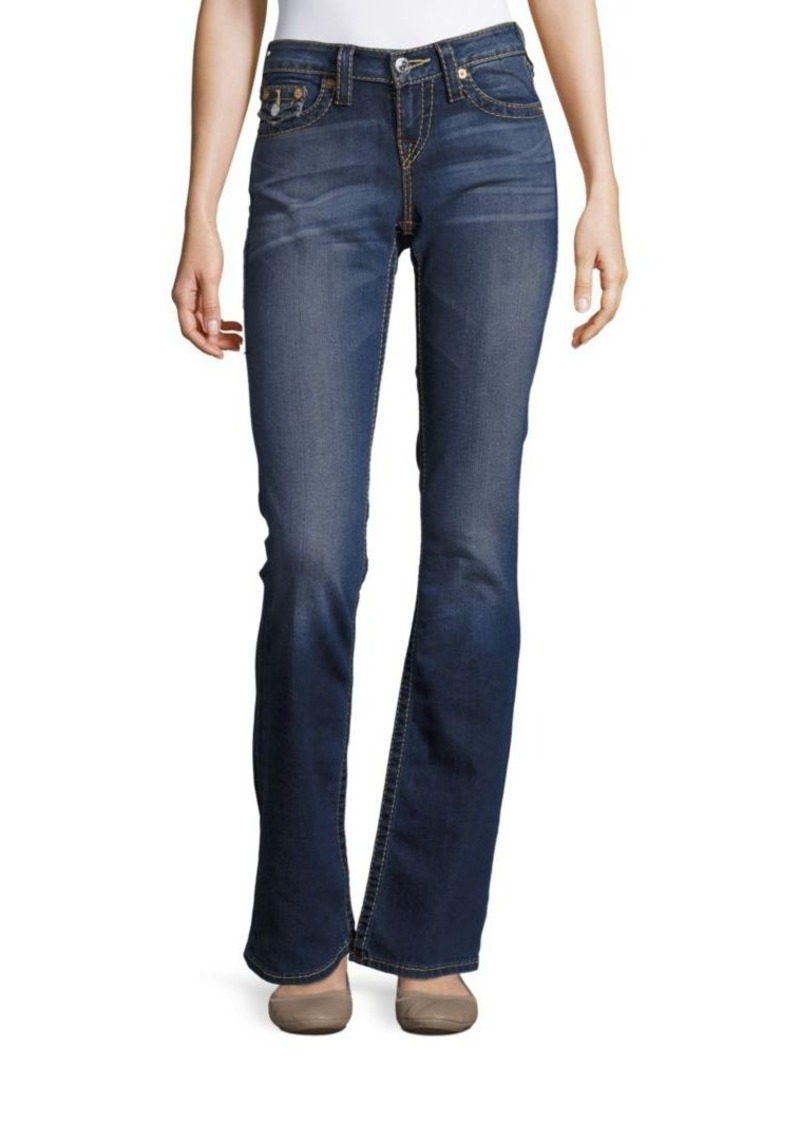 True Religion Five-Pocket Flared Jeans