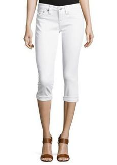 True Religion Flap-Pocket Rolled Capri Jeans