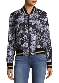 True Religion Floral Cotton Bomber Jacket