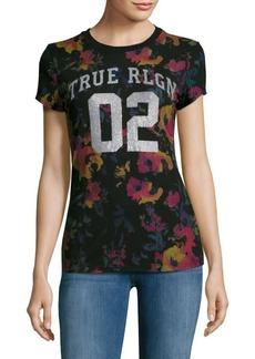 True Religion Floral Print Jersey T-Shirt