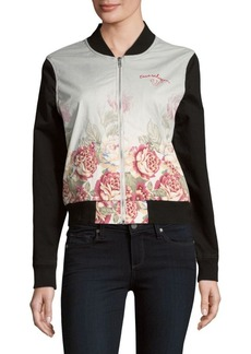 True Religion Floral Printed Bomber Jacket