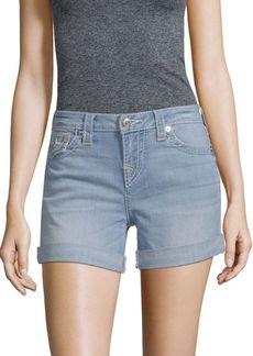 True Religion Folded-Cuffs Denim Shorts