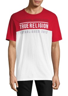 True Religion Football Crewneck Tee