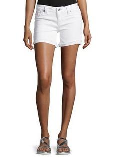 True Religion Frayed-Cuff Denim Shorts