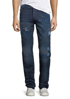 True Religion Geno Moto Splatter Jeans
