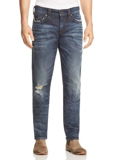 True Religion Geno Straight Fit Jeans in Worn Combat Blue