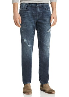 True Religion Geno Straight Fit Jeans in Worn Santiago
