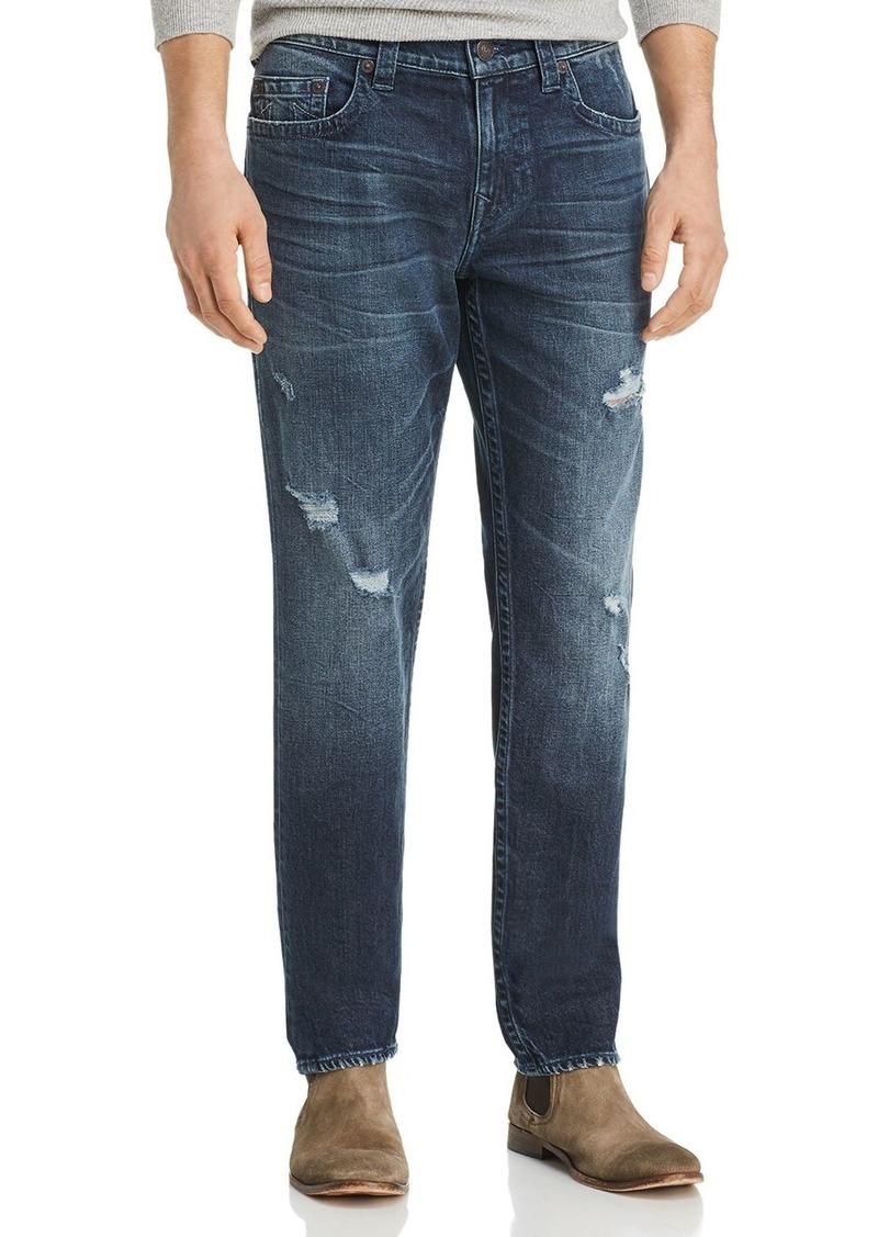 True Religion Geno Straight Fit Jeans in Worn Santiago