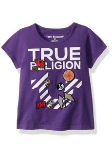 True Religion Girls' Big Fashion Short Sleeve Tee Shirt  M