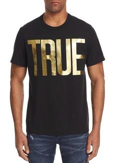 True Religion Gold Foil Logo Tee
