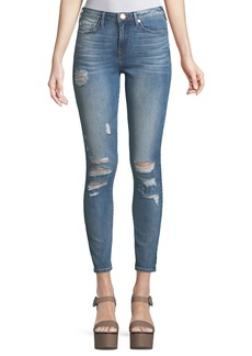 True Religion Halle High-Rise Distressed Super Skinny Jeans