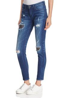 True Religion Halle Super Skinny Jeans in Mended Metal Wash
