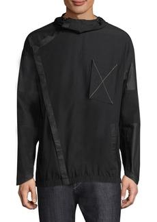 True Religion Asymmetrical Paneled Hooded Jacket