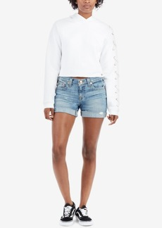 True Religion Jayde Cuffed Denim Shorts