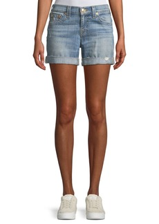 True Religion Jayde Mid-Rise Denim Shorts