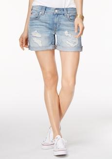 True Religion Jayde Ripped Denim Shorts