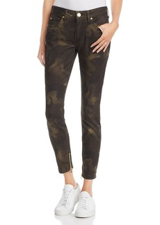 True Religion Jennie Coated Camouflage Skinny Jeans in Rough Turf