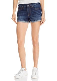 True Religion Jennie Mid-Rise Denim Shorts in Blue