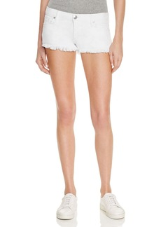 True Religion Joey Cutoff Denim Shorts in Optic White