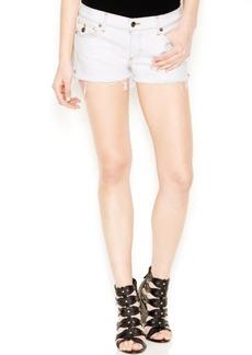 True Religion Joey Denim Cutoff Shorts, Optic White Wash