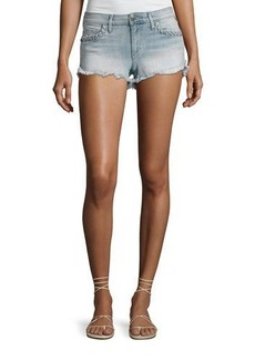 True Religion Joey Denim Cutoff Shorts with Whipstitch Trim
