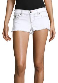 True Religion Joey Frayed Five-Pocket Shorts