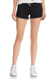 True Religion Joey Low-Rise Denim Shorts in Body Rinse Black