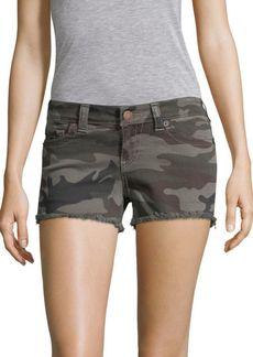True Religion Keira Camo-Print Shorts