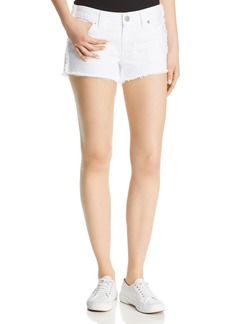 True Religion Keira Fray Denim Shorts in Optic White