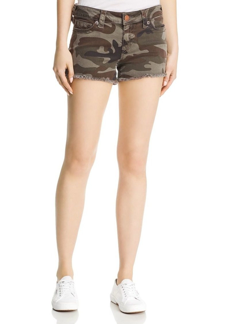 True Religion Keira Mid-Rise Shorts in Eva Camo