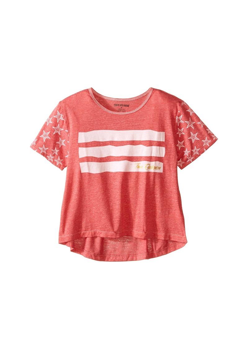 True Religion Kids Stars & Stripes Drape Tee (Little Kids/Big Kids)