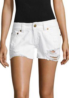 True Religion Kiera Distressed Cut-Off Denim Shorts