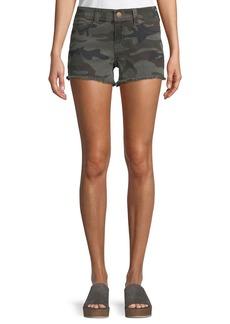 True Religion Kiera Mid-Rise Camo Shorts