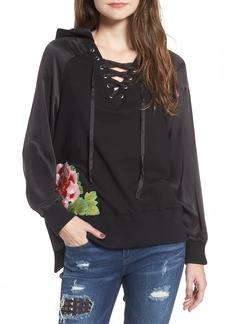 True Religion Lace-Up Pullover