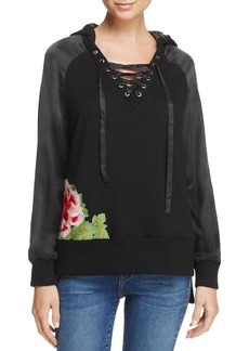 True Religion Lace-Up Sweatshirt