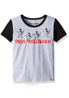 True Religion Boys' Toddler Walking Skeletons Tee Shirt Heather Grey