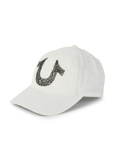 True Religion Logo Cotton Baseball Cap