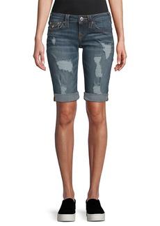 True Religion Long Distressed Pant Short